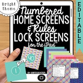 iPad Wallpaper Rules and Numbered Backgrounds:  Bright Theme
