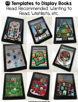 Reading Log Winter Book Project on the iPad
