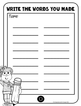iPad Spelling Activities and Word Work Center using DooDoo Pad