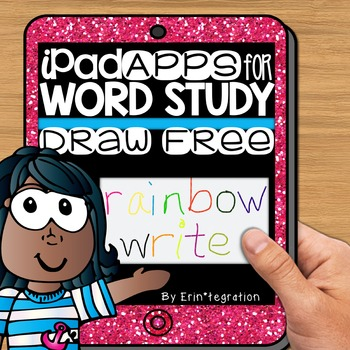 iPad Spelling Activities and Word Work Center using the Draw Free App