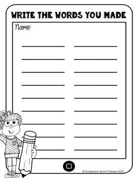 iPad Spelling Activities and Word Work Center using Emoji Draw