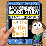 iPad Spelling Activities and Word Work Center using Emoji Draw