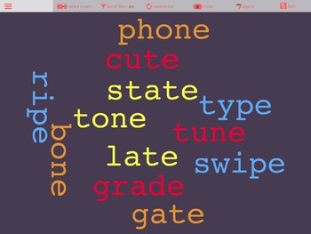 iPad Spelling Activities and Word Work Center using Word Clouds