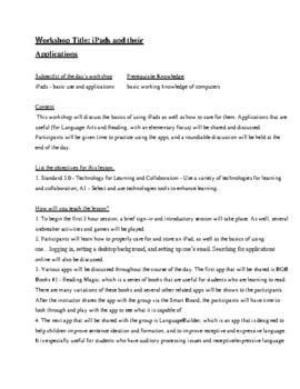 iPad Worksheet Lesson Plan