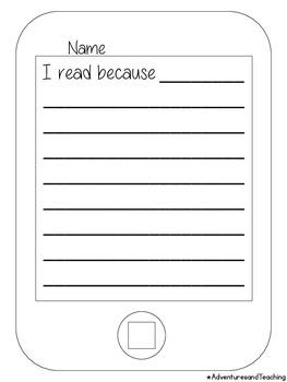 iPad Writing Craftivity {I read because...}