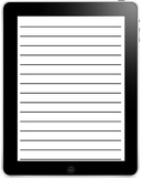 iPad Writing Frames Pack