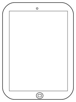 iPad Writing Template