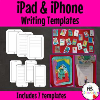 iPad and iPhone Writing Templates