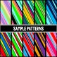 iPad clipart - 20 colorful striped iPad or tablets images