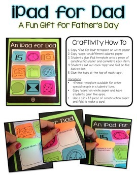 Father's Day Craft {iPad for Dad}