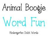iPad, iPhone, and iPod Animal Boogie Kindergarten Word Fun Game