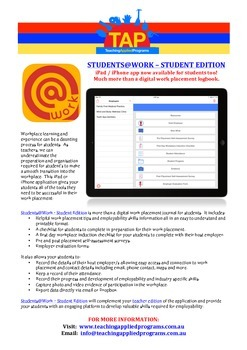 iPad / iPhone app for students on work experience
