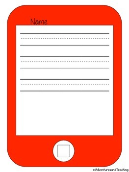 iPad, iPhone, iPod Writing Flipbook Craftivity
