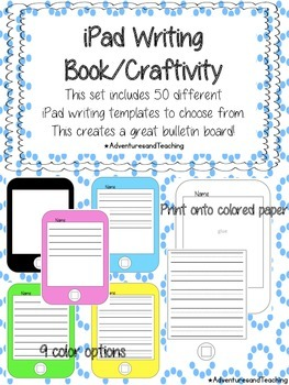 iPad, iPhone, iPod Writing Flipbook Craftivity