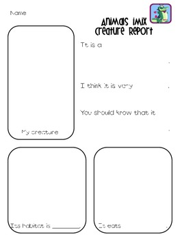 iPad & iPod Activity Sheet for Animals iMix