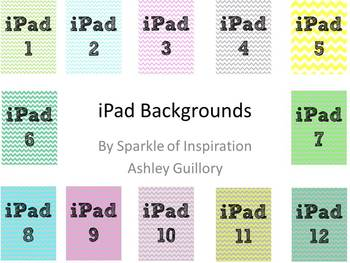 iPad Numbered Background Image Chevron