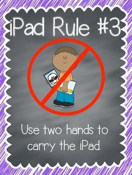 iPad rules posters {FREEBIE!}