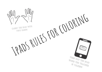 Ipad Rules Printable And Coloring Sheets By Mercedes Rodriguez Tpt