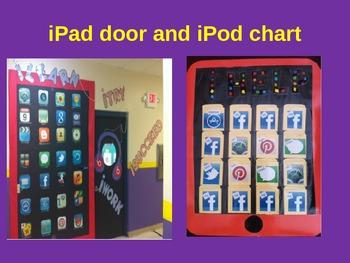 iPad themed door and iPod chart