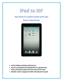 iPad to IEP: actions/verbs vocabulary