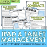 Editable iPad & Tablet Rules Contract and Student Training