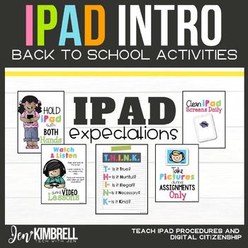 iPAD INTRODUCTION: BACK TO SCHOOL ACTIVITIES