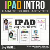 iPad Expectations iPad Rules iPad Care Back to School Activities