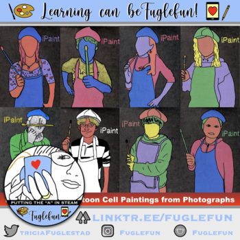 iPaint: Pop Art Cartoon Cell Painting from Photograph