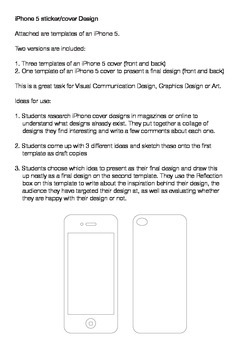 iPhone 5 Cover Design Template