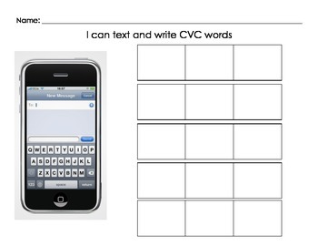 iPhone CVC Words