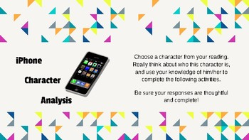iPhone Character Analysis