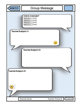 iPhone Classroom Newsletter Template Blank