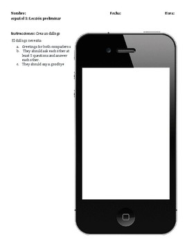 iPhone Dialogue template