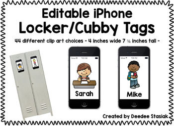 iPhone Editable Locker/Cubby Tags