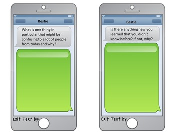iPhone Exit Card Text Messages