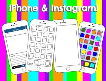 iPhone & Social Media Clipart Bundle!