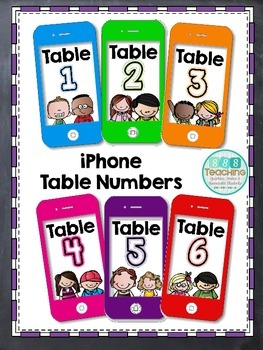 iPhone Table Numbers