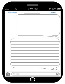 iPhone / Tablet Writing Template