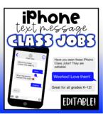 iPhone Text Message Class Jobs- Editable