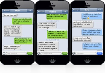 iPhone Text Messages- Drawing Conclusions and Making Inferences