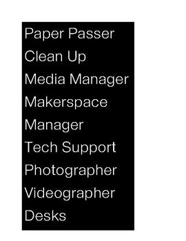 iPhone Themed Classroom Job Titles