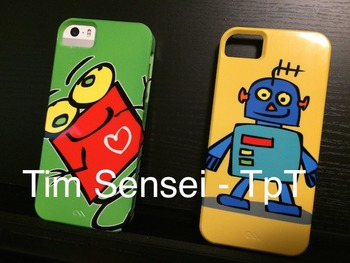 Put any of my clip art on a case for an iPhone, iPad, iPod or Galaxy Phone.