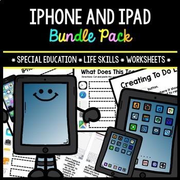 iPhone - iPad - Special Education - Life Skills - Worksheets - BUNDLE
