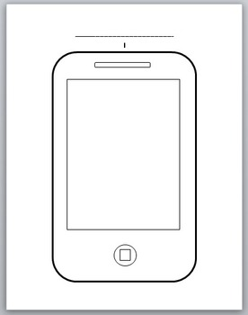 iPhone/Smartphone Template by 4thIsFantastic | Teachers ...