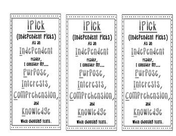 iPick Good Books Bookmarks