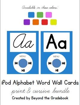 iPod Alphabet Chart BUNDLE