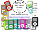 iPod Clip Art (Personal or Commercial Use) and Full Page Printables