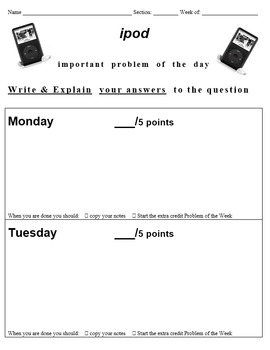 math ipod: Important Math Problem of the Day
