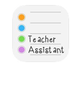iPod Job Classroom Board