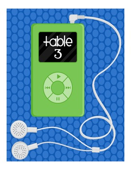 iPod Table Numbers